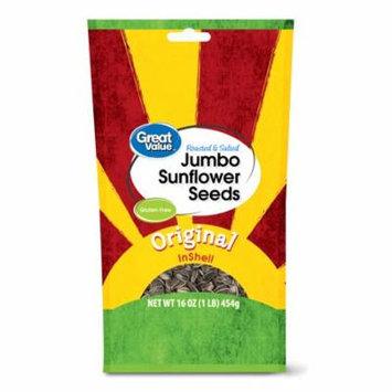 Great Value™ Roasted & Salted Jumbo Sunflower Seeds Original in Shells