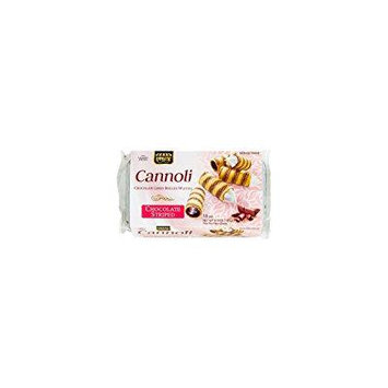 Paskesz Cannoli Chocolate Lined Rolled Wafers Striped 6.3 Oz. Pk Of 3.