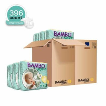 Bambo Nature Baby Diapers Classic, Size 3 (11-20 lbs), 396 Count (2 Cases of 198)