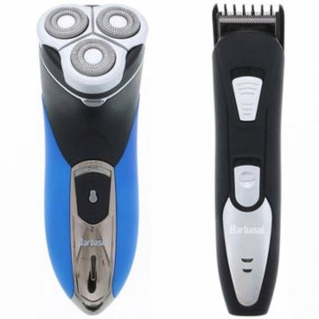 Barbasol Wet & Dry Close Shave Rotary Shaver w/ Pop Up Trimmer and Barbasol Barbasol Rechargeable Beard Trimmer Bundle