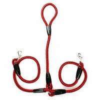 Double Trouble Dual Dog Leash - Red