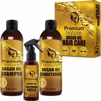 Argan Oil 3 Pack Shampoo & Conditioner 8 oz + 4 oz Thermal Limited Edition 2.0