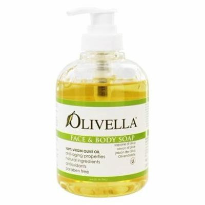 Virgin Olive Oil Face and Body Liquid Soap - 10.14 fl. oz. by Olivella (pack of 12)