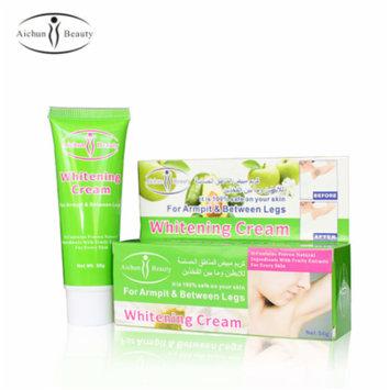 New Upgraded Aichun Armpit Whitening Cream Natural Formula Underarm Private Parts Skin Whitening Massage Cream Legs Knee Whitening, Green, On Sale