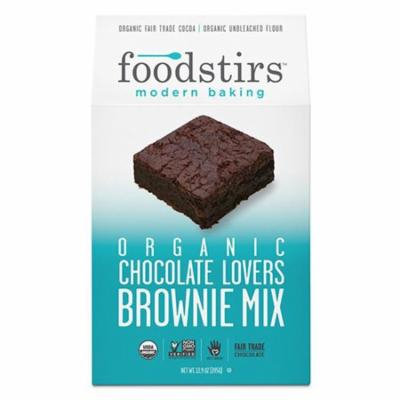 Foodstirs Organic Chocolate Lovers Brownie Mix 13.9 oz Bags - Pack of 6