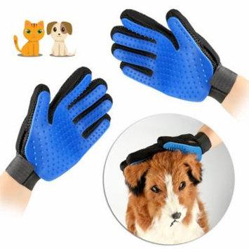 AGPtek Pet Grooming Gloves Brush Dog Cat Hair Remover Mitt Massage Deshedding -2 pack