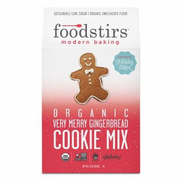 Foodstirs Organic Very Merry Gingerbread Cookie Mix 23 oz Bags - Pack of 6