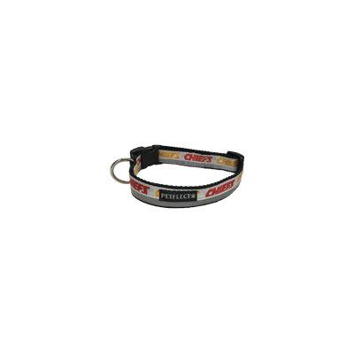 Petflect Kansas City Chiefs Dog Collar - Reflective - Nylon - Super Strength - NFL Team Logos - Small, Neck 11