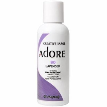 4 Pack - Creative Images Systems Adore Semi-Permanent Haircolor, [090] Lavender 4 oz