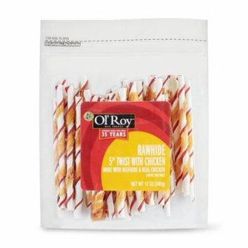 Ol' Roy Dog Treats Rawhide Twist with Chicken, 12 oz.