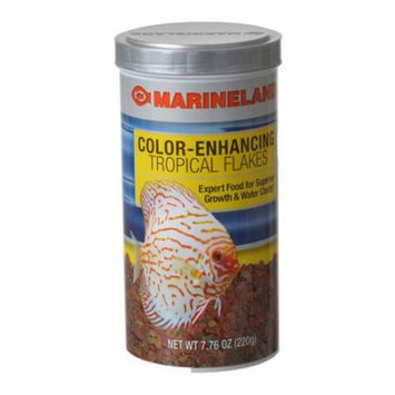 Marineland Color Enhancing Tropical Flakes 7.76 oz - Pack of 4