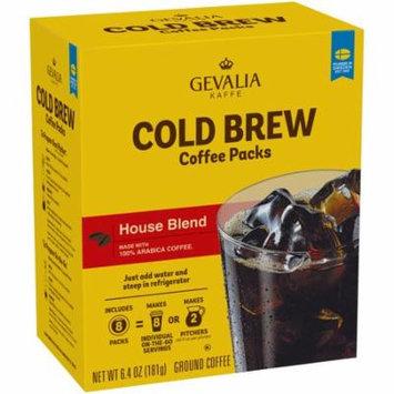 Gevalia Kaffe House Blend Cold Brew Coffee Packs 6.4 oz Box