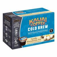 Kauai Cold Brew Coffee Pods, Vanilla Macadamia Nut, 6 Count
