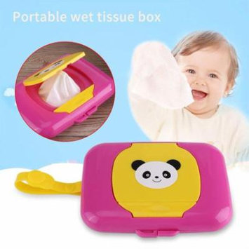 Jeobest 1PC Wet Wipes Storage Case - Baby Wet Wipes Case - Baby Wipes Case - Baby Wipes Dispenser - Baby Wet Wipes Box Baby Outdoor Travel Stroller Wet Wipes Box Refillable Container MZ(rose+yellow)