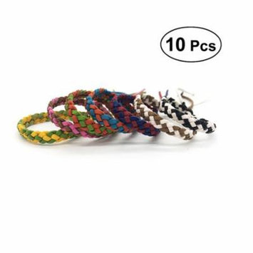 10pcs Mosquito Pest Insect Bugs Repellent Wristband Cartoon Feather Anti Mosquito Bracelet Deet Free for Adults Children Indoor Outdoor (Two Color)