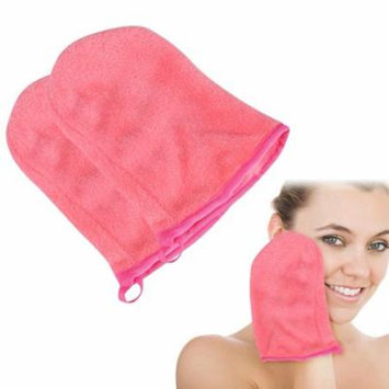 Estink Pink Reusable Face Cleansing Towel Cloth Soft Makeup Remover Glove Facial Cleaning Tools Facial Cleaning Towel Facial Wipes Face Wash Cloths