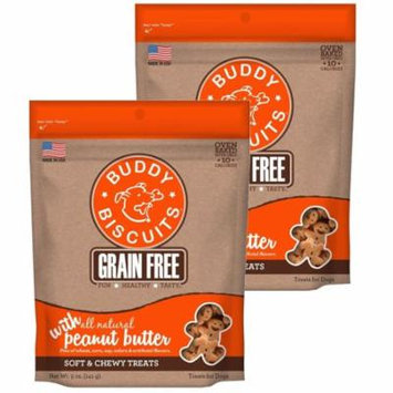 Cloud Star Buddy Biscuits 5 oz Soft & Chewy Dog Treats - Peanut Butter 2 Pack