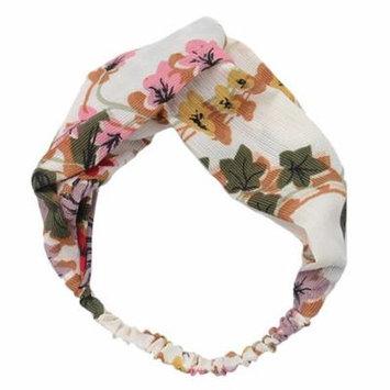 Women's Headband Fashion Elastic Cross Flower Pattern Turban Headband Head Wrap Hair Band Hair Accessories