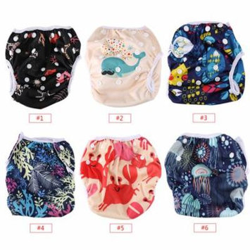 4 Style Baby Unisex Reusable Breathable Swim Diapers,Summer Pool Pant with Snaps Training Pants, Pool Pant,Swim Diaper