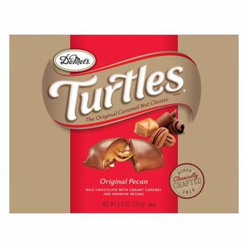 Turtles Original Lay Down Box Caramel, Premium Pecans Covered in Milk Chocolate6.0 oz.(pacck of 4)