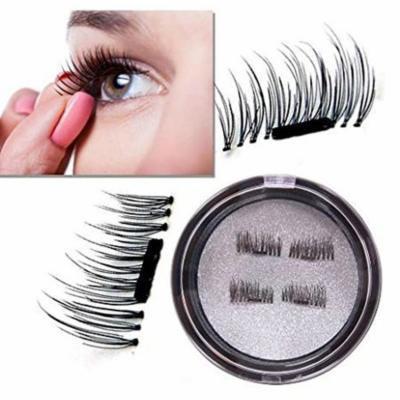 3D Reusable Ultra Thin Magnetic False Eyelashes - 3 Pair