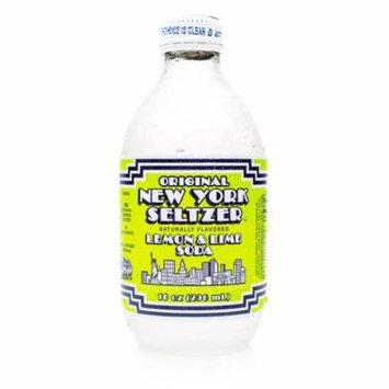 Original New York Seltzer Lemon & Lime Soda 10 oz Glass Bottles - Pack of 4