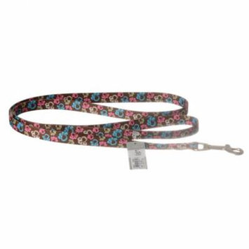 Pet Attire Styles Special Paw Brown Dog Leash 4' Long x 5/8