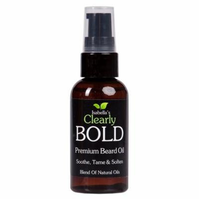 Isabella's Clearly BOLD - Premium Moisturizing Beard Oil - 100% Natural. Smells Great! (2 oz)