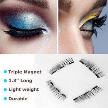 Glamorous Magnetic eyelashes, New Triple Fake Eyelashes Magnetic,4 Pieces Ultra Thin Fales Mink Reusable magnetic eyelashes Natural Pack for Women