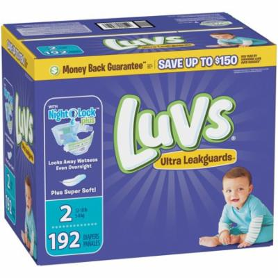 Luvs Ultra Leakguards Diapers Size 2 192 count
