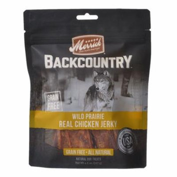Merrick Backcountry Wild Prairie Real Chicken Jerky 4.5 oz - Pack of 6