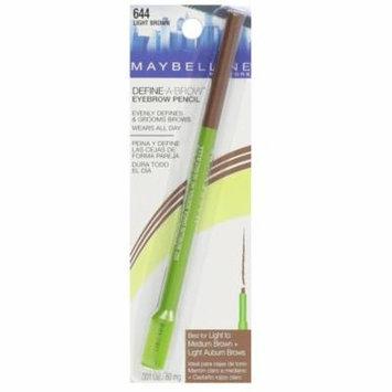 Maybelline Defind A-Brow Brow Pencil, #644 Light Brown + Makeup Blender Sponge