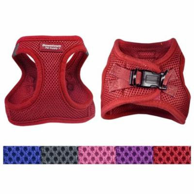 Best No Pull, Step in Adjustable Dog Harness, Easy to Put on Small, Medium and Large Dogs (Red, Large)