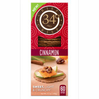 34 Degrees Cinnamon Sweet Crisp Crackers, 5.3oz