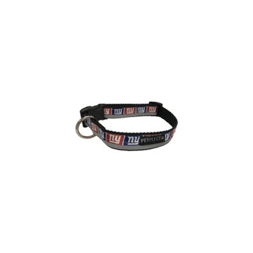 Petflect New York Giants Dog Collar - Reflective - Nylon - Super Strength - NFL Team Logos - Small, Neck 11