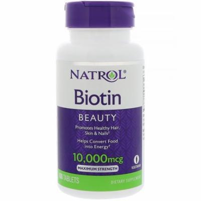 Natrol, Biotin, 10,000 mcg, 100 Tablets(pack of 12)