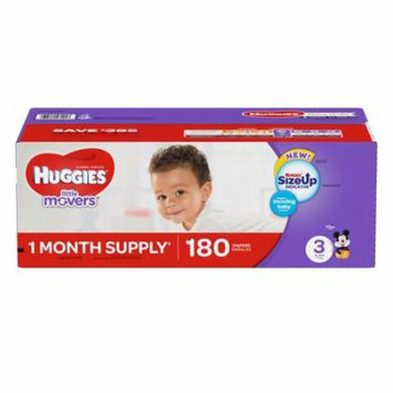 Huggies Little Movers Diapers, Size 3 (16 - 28 lb.), 180 ct. Economy Pack
