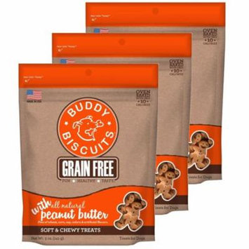 Cloud Star Buddy Biscuits 5 oz Soft & Chewy Dog Treats - Peanut Butter 3 Pack