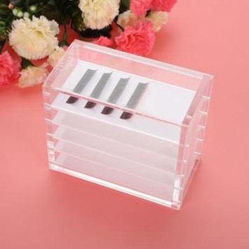 Clear Eyelash Storage Box Makeup Organizer 5 Layers Grafting Eyelashes Glue Pallet Holders, Glue Pallet Holder, Eyelash Holder
