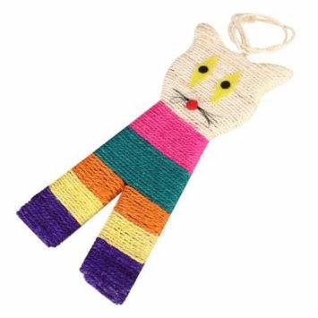 Colorful Cat Head Shape Pet Cat Kitten Scratching Board Scratch Play Toy (Random Color)