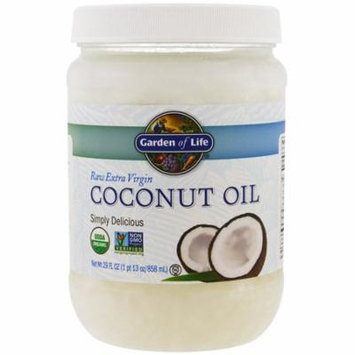 Garden of Life, Raw Extra Virgin Coconut Oil, 29 fl oz (858 ml)(Pack of 4)