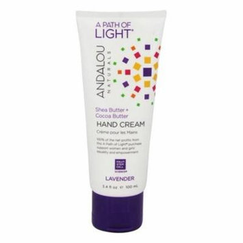 A Path of Light Shea Butter + Cocoa Butter Hand Cream Lavender - 3.4 fl. oz. by Andalou Naturals (pack of 12)