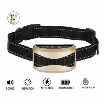 Rechargeable Anti Bark Shock Collar Vibration Waterproof Pet Dog Training Collar