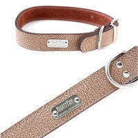 Mighty Paw Leather Dog Collar , Super Soft Distressed Leather (Brown, Small)