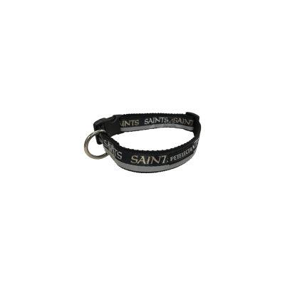 Petflect New Orleans Saints Dog Collar - Reflective - Nylon - Super Strength - NFL Team Logos - X-Large, Neck 26