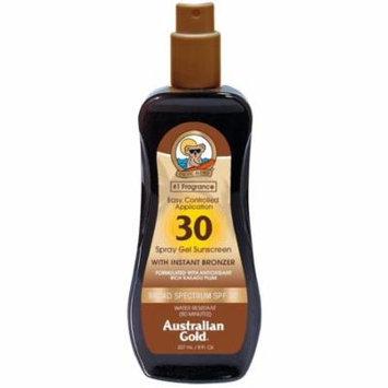 4 Pack - Australian Gold Accelerator Spray Gel With Bronzer 8 oz