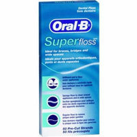 Oral-B Superfloss Dental Floss 50 Each (Pack of 2)
