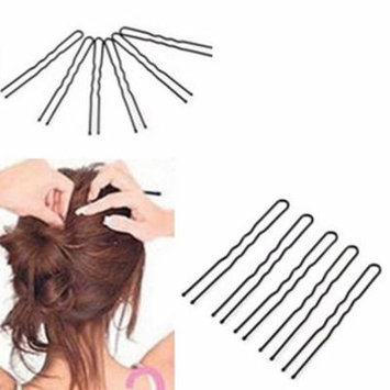 Girl12Queen 50 Pcs Waved U-shaped Hairclips Bobby Pin Barrette Salon Grip Hair Clip Hairpin
