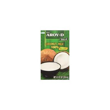 Aroy-D 100% Pure Coconut Milk 8.5 OZ (Pack of 12)