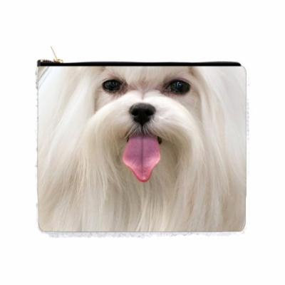 Up-Close Face of a Maltese Puppy Dog - 2 Sided 6.5